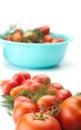 Tomatoes fresh on white background Royalty Free Stock Image