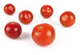 Tomatoes group of ripe on white background Royalty Free Stock Image