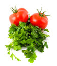 Tomatoes parsley Royalty Free Stock Photos
