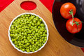 Tomatoes and Peas Royalty Free Stock Image