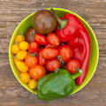 Tomatoes and pepper Stock Photography