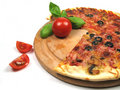 Tomatoes and pizza Stock Photography