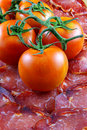 Tomatoes and pork. Stock Images