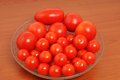 Tomatoes red in a bowl Royalty Free Stock Photography