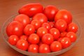 Tomatoes red in a bowl Royalty Free Stock Photos