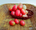 Tomatoes sour red palatable rich in benefit Stock Image