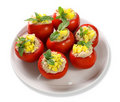 Tomatoes stuffed Royalty Free Stock Photos