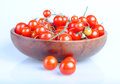 Tomatos cherry type on white background Royalty Free Stock Photo
