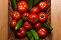 Tomatos and Cucumbers Royalty Free Stock Photo