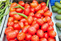 Tomatos in a market Stock Photography