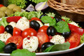 Tomatos, olives, cheese Royalty Free Stock Photo