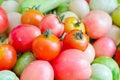 Tomatos the a organic food Stock Photos