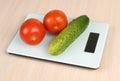 Tomatos on scales Royalty Free Stock Image
