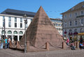 Tomb of charles iii william in karlsruhe germany pyramid over the margrave baden durlach founder Stock Photography