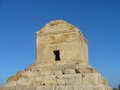 Tomb cyrus burial place cyrus great founder achaemenid empire tomb located iran pasargadae world heritage site Royalty Free Stock Photos