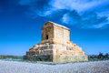 The tomb of cyrus the great pasargad iran Royalty Free Stock Images