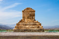 The tomb of cyrus the great pasargad iran Stock Image