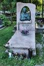 Tomb of the famous Polish singer Marek Grechuta Royalty Free Stock Image