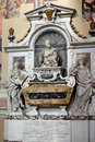Tomb of galileo galilei in the basilica of santa croce florence italy Royalty Free Stock Photos