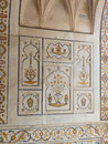 Tomb of itimad ud daulah in agra uttar pradesh india detail hardstone carving this is often regarded as a draft the Royalty Free Stock Images