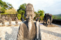 Tomb of khai dinh emperor in hue vietnam a unesco world heritage site Royalty Free Stock Photo