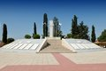 The tomb of makedonitissa a military cemetery and war memorial near monastery officers and soldiers who died Royalty Free Stock Photography
