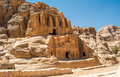 Tomb of obelisk jordanian ancient city petra Royalty Free Stock Images