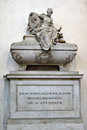 The tomb of philosopher niccolo machiavelli in the basilica di santa croce in florence italy Stock Photography