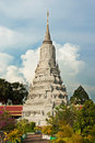 The tomb in royal palace in phnom penh cambodia during a nice sunny day Stock Photography