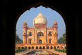 Tomb of Safdarjung seen from main gateway, New Delhi, India Royalty Free Stock Photo