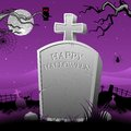Tomb Stone in Halloween Night Royalty Free Stock Photos