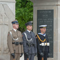 Tomb of the unknown soldier warsaw poland may honour guard at most important element pilsudski square built up in a Stock Photography