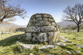 Tombs of the giants grave is name given by local people and archaeologists to a type sardinian megalithic gallery grave built Stock Photo