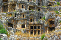 Tombs in Myra Stock Images