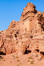 Tombs of petra ancient carved in the rock in jordan Stock Photography