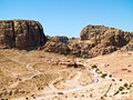 Tombs in Petra, Jordan Royalty Free Stock Photos