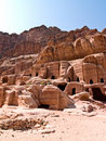Tombs in Petra, Jordan Stock Photography