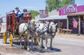 Tombstone arizona aug a horse drawn carriage ride in the main street of arizona on august is a historic Royalty Free Stock Photography