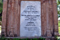Tombstone at british residency a gravestone inside th century in lucknow india Stock Photos