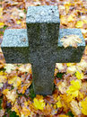 Tombstone cross Royalty Free Stock Photos