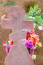 Tombstone cross Stock Images