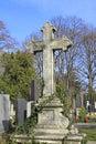 Tombstone cross Royalty Free Stock Photo