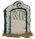 Tombstone an illustration of a stone rip Royalty Free Stock Photography