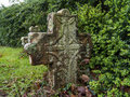 Tombstone old in cemetery french basque country Royalty Free Stock Images