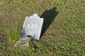Tombstone at Sunset Stock Photography