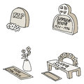 Tombstones an image of different Royalty Free Stock Image