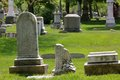 Tombstones old on a sunny day Royalty Free Stock Photography