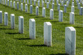 Tombstones in Rows at Fort Rosecrans National Cemetery Royalty Free Stock Photo