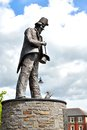 Tommy cooper memorial in caerphilly in wales uk thomas frederick was a welsh prop comedian and magician was a member Stock Photo