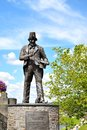 Tommy cooper memorial in caerphilly in wales uk thomas frederick was a welsh prop comedian and magician was a member Royalty Free Stock Photos
